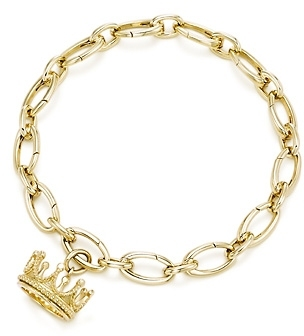 Crown charm and bracelet