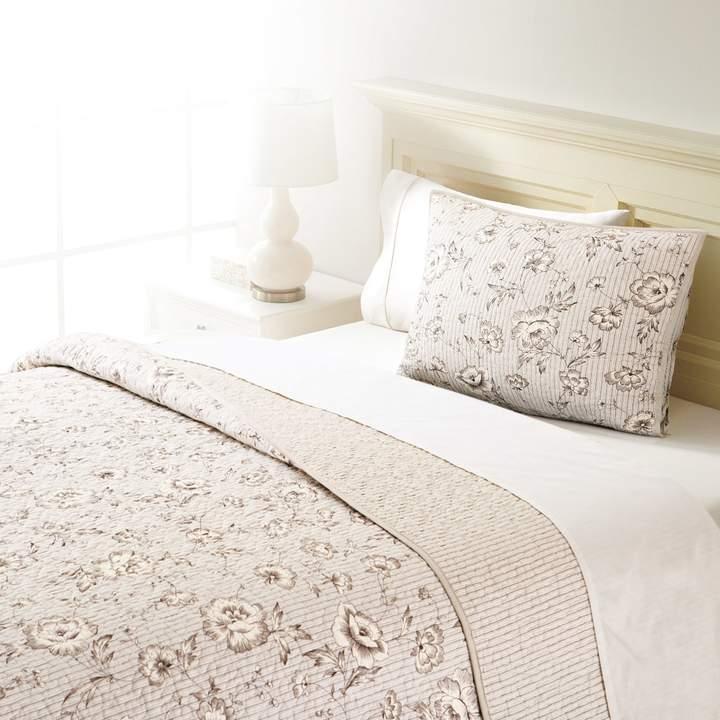 Home Classics Sarah Pinstripe Floral Quilt