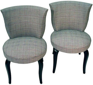 One Kings Lane Vintage Art Deco Slipper Chairs - Set of 2