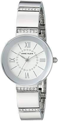 Anne Klein Women's AK/3191SVSV Swarovski Crystal Accented -Tone Bracelet Watch