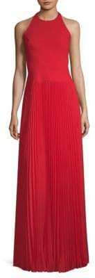 Aidan Mattox Pleated Halter Gown