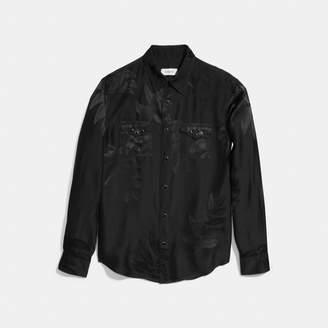 Coach Leaf Print Western Shirt