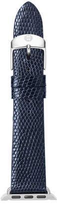 Michele 38mm Lizard Strap for Apple Watch, Navy