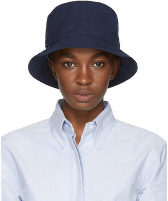 Thom Browne Navy Lined Bucket Hat
