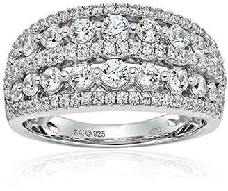 Swarovski Sterling Silver Cubic Zirconia Anniversary Ring