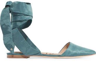 Sam Edelman Brandie Dupion Point-toe Flats - Blue