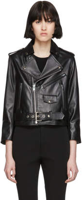 Markoo Black Moto Leather Jacket