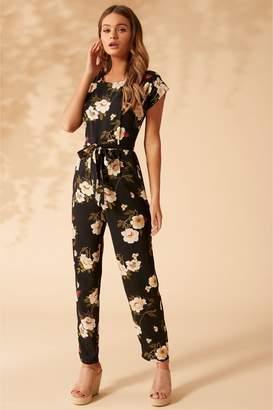 ed30a7b15214 Short Sleeve Floral Jumpsuit - ShopStyle UK