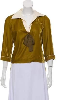 Louis Vuitton Velvet Button-Up Top