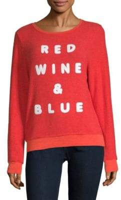 Wildfox Couture Red Wine Long-Sleeve Tee