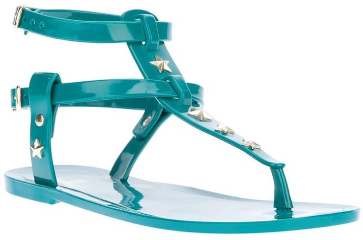 Love Moschino star studded sandal