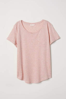H&M Slub Jersey T-shirt - Black - Women