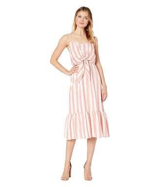 American Rose Lydia Spaghetti Strap Ruffle Dress