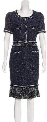 Chanel Tweed Inset Dress