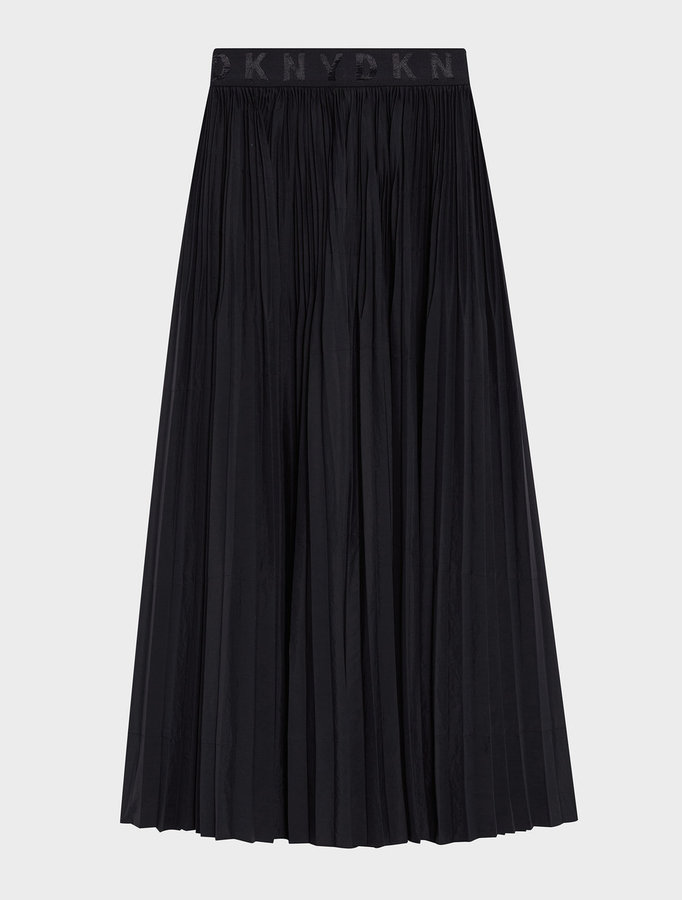 DKNY Dkny Pure Pleated Skirt With Logo Waistband