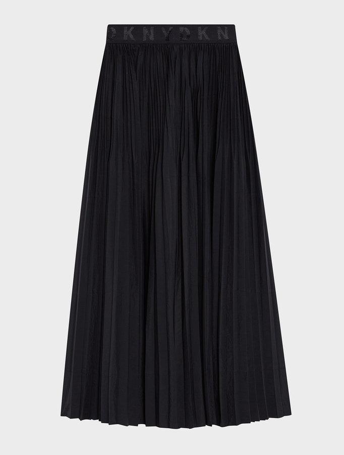 DKNYDkny Pure Pleated Skirt With Logo Waistband