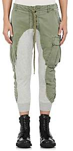 Greg Lauren Men's Cotton Slim Lounge Pants - Olive