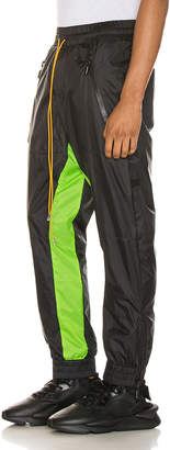 Rhude Flight Suit Pant in Black & Neon Green | FWRD