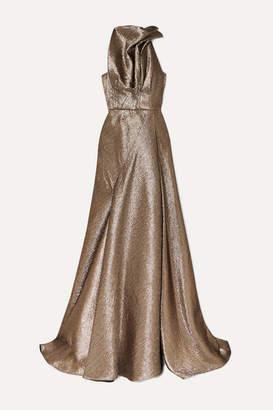 Maticevski Gathered Lurex Gown - Gold