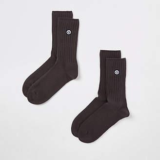 River Island Superdry University grey socks multipack