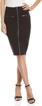 Romeo & Juliet Couture Romeo + Juliet Couture Black Zip Front Pencil Skirt