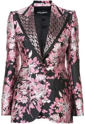 Dolce & Gabbana floral lurex jacquard jacket