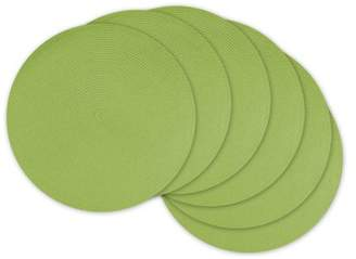 Design Imports Round Woven Placemats, Set of 6, Lime