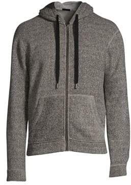 ATM Anthony Thomas Melillo Double Faced Knit Zip Up Hoodie