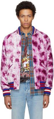 Gucci Pink Velvet Embroidered Bomber Jacket