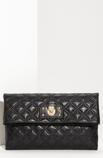 MARC JACOBS 'Quilting Eugenie - Large' Leather Clutch