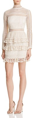 AQUA Lace Tiered Dress $98 thestylecure.com