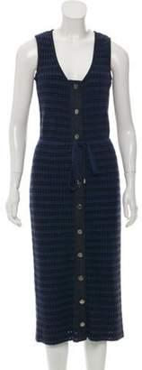 Adam Selman Rib Knit Midi Dress denim Rib Knit Midi Dress