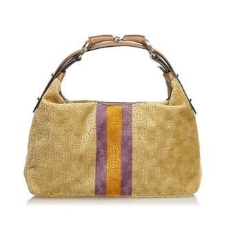 Gucci Hobo Brown Velvet Handbag