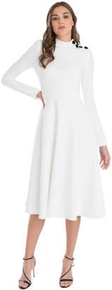 Black Halo Antonia Color Block Dress