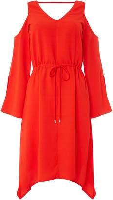 Oui Cut out shoulder detail dress