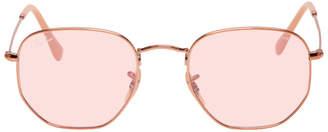 Ray-Ban Pink Hexagonal Evolve Sunglasses