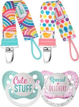 Ulubulu Cute Stuff 2-Pack Pacifier & Clip Set