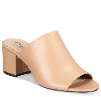 Callisto Mathis Block-Heel Mules Women's Shoes $95 thestylecure.com
