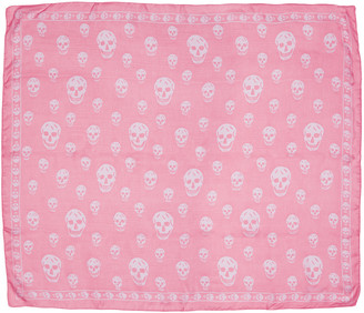 Alexander McQueen Pink Skull Scarf $295 thestylecure.com