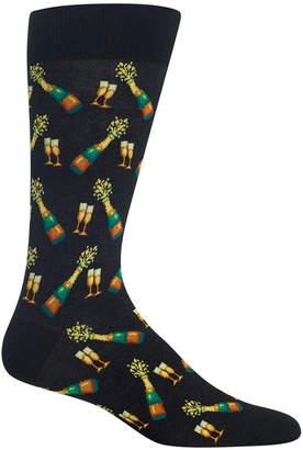 Hot Sox Men's Printed Crew Socks