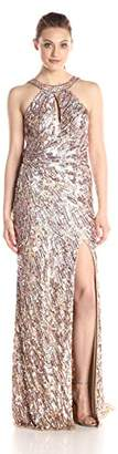 Mac Duggal Women's Fully Sequined Halter Gown