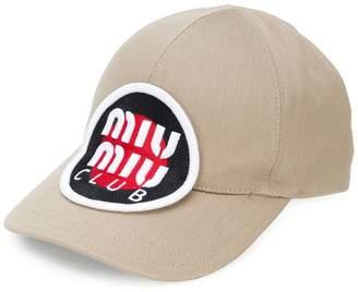 Miu Miu logo patch cap