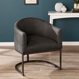 Mid-Century MODERN Southern Enterprises Serigone Upholstered Barrel Chair, Midcentury Modern, Gray