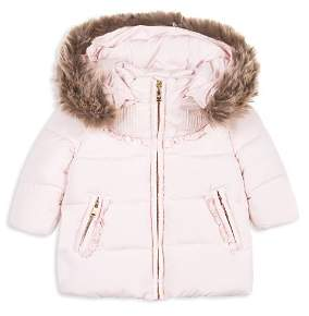 58db8e8a6 Girls Fur Trimmed Coat - ShopStyle