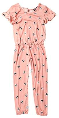 XOXO Bulldog Ruffle Sleeve Jumpsuit (Big Girls)
