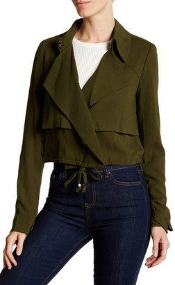 Haute Hippie Cropped Ruffle Detail Trench Jacket $495 thestylecure.com