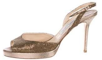 Jimmy Choo Brandy Glitter Sandals
