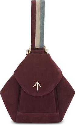 Manu Atelier Micro Fernweh suede shoulder bag