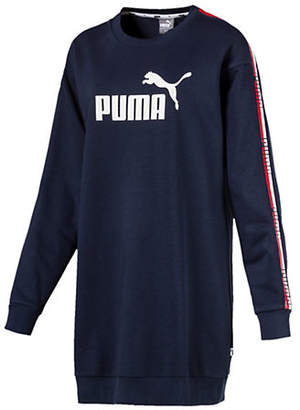 Puma Side Tape French Terry Sweater Dress