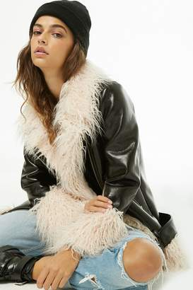 Forever 21 Faux Patent Leather Moto Jacket